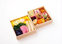 【MR様向け】野菜ちらし寿司と彩り9升の二段弁当【ペット茶付き】