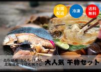 【干物コラボ鯵×鰯】島根真鯵×北海道真鰯の名産地干物セット(4枚)《TKJ01004》