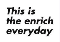 予約:10月中旬発送】This is the Bag × enricheveryday  Tyvek eco Bag/タイベック エコバック
