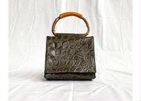 Mini handbag with bamboo