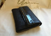 long wallet and the passport case for men  #Combination