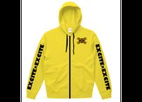 EXCITE×EXCITE ジップパーカー (Yellow)