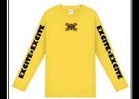EXCITE×EXCITE オリジナルロングTシャツ (Yellow)