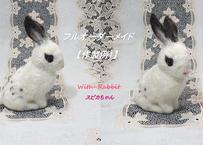 【作製例1】こちらは商品ではございませんm(__)m 作製へのご依頼はお問い合わせください。 世界で一つの「愛らしうさぎ」(羊毛フェルト Ornament)  With-Rabbit◆ウィズラビット