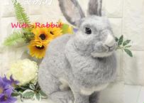 【作製例5】作製した作品の掲載だけで、こちらは商品ではございませんm(__)m  世界で一つの「愛らしうさぎ」(羊毛フェルト Ornament)  With-Rabbit◆ウィズラビット