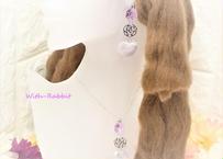 【この1点限り】マカロンハート(バイオレット×シルバー)イヤリングとネックレスのセット♥セットで、この価格! With-Rabbit◆ウィズラビット*アクセサリー
