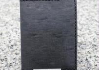 【再販×3】シンプル免許証入れ(国産牛革使用 エンボス加工 濃いグレー色)With-Rabbit◆ウィズラビット
