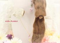 【この1点限り】マカロンハート(シルバー/ピンク×ゴールド)イヤリングとネックレスのセット♥セットで、この価格! With-Rabbit◆ウィズラビット*アクセサリー