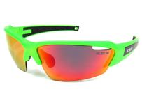 K.O.S  SportLightClearStripe NEON GREEN/RED 偏光レンズ