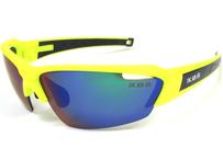 K.O.S  SportLightClearStripe NEON Yellow/Blue 偏光レンズ