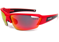 K.O.S  SportLightClearStripe NEON RED/RED 偏光レンズ