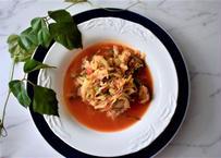 ★バゲット1/2付!【食べる点滴!!】冷凍便でお届け!キャベツ、玉ねぎ、ニンジンと鶏胸肉とトマトのスープ:ヘルスフードサイエンス研究科が作る栄養学から考える野菜たっぷりスープ