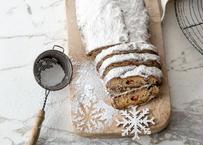 【ついに登場‼︎】フランス風シュトーレン【大/約18cm】:しっとりとコクのある極上の冬のお菓子。「マジパンは2本」これが鉄則。冷やしても常温でも美味しく召し上がれます(賞味期限:約2週間)