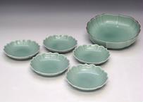 笹青磁  鉢、銘々皿セット(アウトレット品)