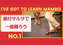 振付サルサで1曲踊ろう I'VE GOT TO LEARN MAMBO No.1