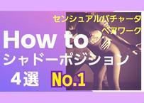 センシュアルバチャータペアワーク「HOW TO シャドーポジション」4選No.1