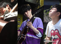 岩田隼Trio:岩田隼(g)  青栁龍生(b) 桑畑怜吾(ds) 2021.07.24 18:00 <有観客生配信>