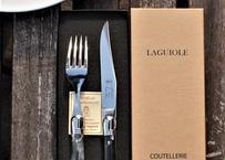 【LA VIE 1923】 Laguiole ナイフ&フォーク セット【オリジナル刻印付】