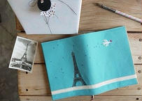 ブックカバー 『エッフェル塔』 貼り箱付き 作家:timpani