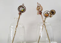 真鍮製の簪 かご 作家:金魚工房