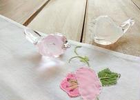 ことりはしおき 桜と白 2羽セット 作家:添田亜希子