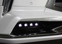 LX570後期 モデリスタフロントハーフ用 LEDアタッチメント 未塗装品 ダブルエイト