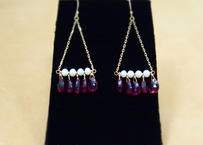 Pink Tourmarine Chandelier Earrings