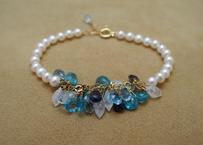Multi Blue Stone Bracelet