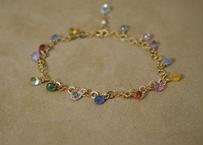 MultiSapphire Chain Bracelet(d/c)