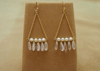 Royal Moonstone Chandelier Earrings