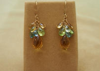 Citrine & Color Stone Chapeau Earrings
