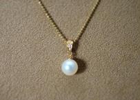 AKOYA Pearl Pendant Top(+Diamond)