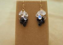 Royal Moonstone & Black Spinal Prisum Earrings