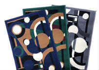"Abstract Modern Area Rug ""Search Light"""