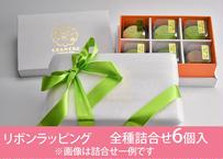 <リボンラッピング>口福餅(6個入り・全種類詰め合わせ)