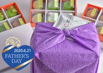 <父の日ギフト・和包装>口福餅全種類18個入りと大和煎茶ティーパック(3包入り)のセット