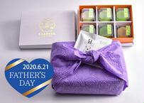 <父の日ギフト・和包装>口福餅全種類6個入りと大和煎茶ティーパック(3包入り)のセット