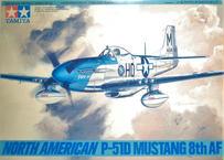 タミヤ 1/48 ノースアメリカン P-51D マスタング 第8空軍