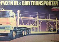 ミツワモデル 1/24 ふそう高速トラックトラクタ K-FV-214JR&カートランスポーター TS1023