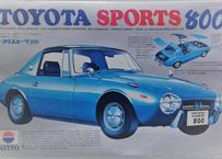 ニットー 1/24 トヨタ スポーツ 800  初版 赤ボディ
