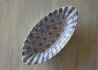ボルドー窯 David Johnston ブルーお花柄 ラヴィエ【2020DEC-035】