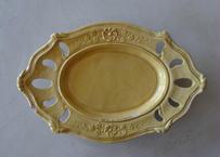 南仏陶器 APT アプト窯 黄釉 ラヴィエ オーバル型 受け皿