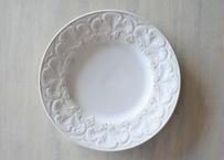 クレイユエモントロー 白いレリーフ デザート皿 #1〖202004-52〗