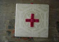 フランスアンティーク キリスト教 シルク織カバー