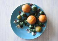 南仏陶器 APT アプト窯 トロンプイユ オレンジのバルボティーヌ皿〖202103-61〗
