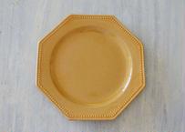 南仏陶器 黄釉 ピション オクトゴナル 小さめのデザート皿 17cm Aランク〖202009-41〗