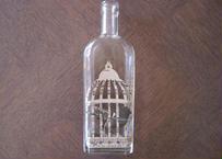 作家ものフランス雑貨 シャビーシック シロップのボトル カゴの中の鳥コラージュ3