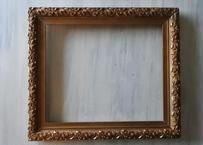ヤドリギ 額 木製に漆喰レリーフ 金彩 53x46cm