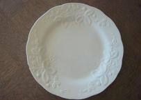 クレイユ エ モントロー 白い野いちごレリーフ皿 #1