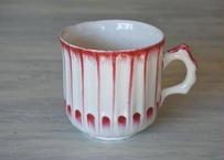 18世紀 リュネビル窯 赤い彩色のカップ #2〖202105-03〗